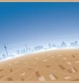 las vegas skyline aerial view vector image