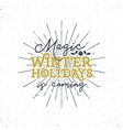 Magic winter holidays Christmas typography label vector image vector image