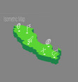 map sweden isometric concept vector image vector image
