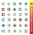medical health logo vector image