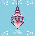 merry christmas celebration decorative ball vector image