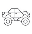 monster truck thin line icon transport and vector image vector image