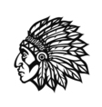 Native American Indian Chief head profile Mascot