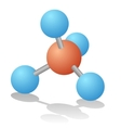 Natural gas molecule vector image
