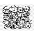 new year cartoon comic strip speech bubbles vector image vector image