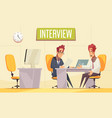 office interview job background vector image vector image