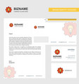 power setting business letterhead envelope and vector image vector image