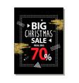 real big christmas sale advert vector image