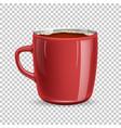 realistic mug cup coffee top view vector image