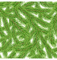 seamless pattern with fir tree branch vector image