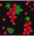 seamless pattern with red currant berries vector image vector image