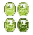 set label with cup with leaf stevia vector image vector image