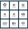 set of letter logo initial br logo template design vector image