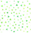 shamrock background seamless pattern vector image vector image