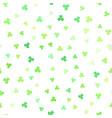 shamrock background seamless pattern vector image