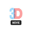 simple 3d striped icon vector image