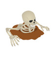 skeleton ground icon isometric style vector image