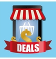 smartphone deals online shopping store vector image
