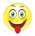 Smiley showing tongue vector image vector image