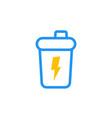 sport shaker icon vector image vector image