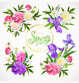 spring collection of floral arrangements vector image vector image