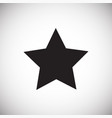 star icon on white background for graphic and web vector image