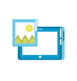 tablet technology with picture icon vector image vector image