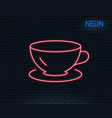 tea cup line icon coffee drink sign vector image vector image