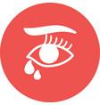 tears in eyes vector image vector image