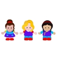 Three funny little girls vector image