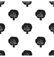 Tree house icon in black style isolated on white vector image