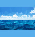 view of the ocean and clouds triangulation mosaic vector image