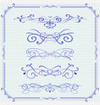 vintage ornaments and frame vector image
