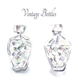 Vintage perfume bottles vector image