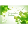 with green watercolor vector image vector image