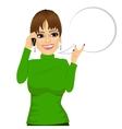 woman having conversation using her smartphone vector image vector image