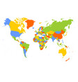 world map in four colors on white background vector image vector image