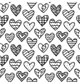 Black and white seamless pattern with outline vector image