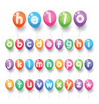 colorful alphabet letter balloons vector image