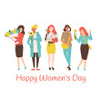 8 march holiday smiling caucasian mothers vector image vector image