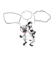 A lemur thinking vector image vector image