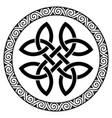 ancient round celtic design celtic knot mandala vector image