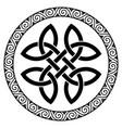 ancient round celtic design celtic knot mandala vector image vector image