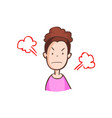 angry woman in pink dress vector image vector image