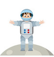 astronaut boy on moon vector image