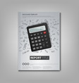 brochures book or flyer with calculator and vector image vector image