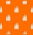 bullet ammunition pattern seamless vector image vector image