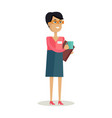 business woman with cup vector image vector image