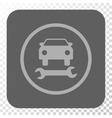 Car Repair Rounded Square Button vector image