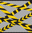 caution crossed tapes border vector image vector image